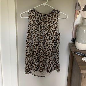 Loft cheetah print tank